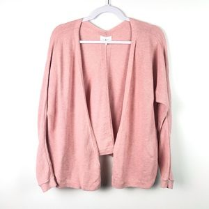 Lou & Grey | Light Pink Open Front Cardigan XS